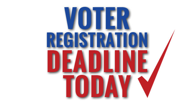 A graphic promoting the Voter Registration Deadline