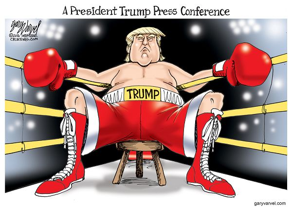 "After calling a reporter a ""sleaze,"" Donald Trump promised that when he is President, his press conferences are going to be rough."