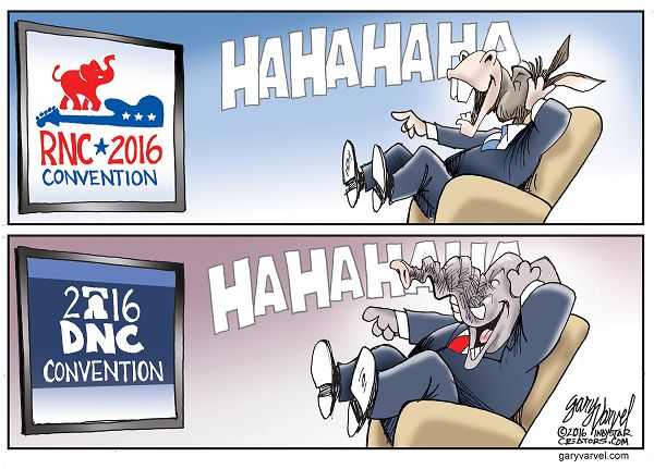 Cartoonist Gary Varvel: Reaction to political conventions