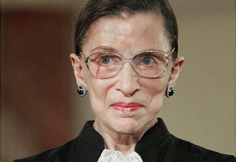 FILE - In this Jan. 20, 2005 file photo, Supreme Court Justice Ruth Bader Ginsburg takes part in a swearing ceremony at the State Department in Washington. Ginsburg was hospitalized, Thursday, Sept. 24,2009, after feeling ill at work. (AP Photo/Ron Edmonds, File) Original Filename: Ginsburg__WX112.jpg