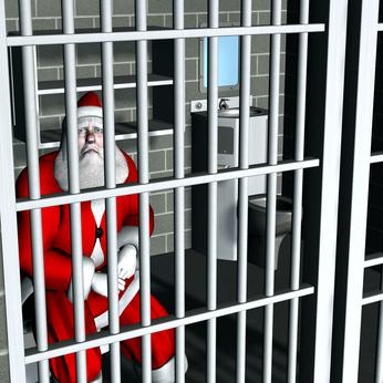 Behind Bars Santa Arrested for Breaking and Entering Bah Humbug Series
