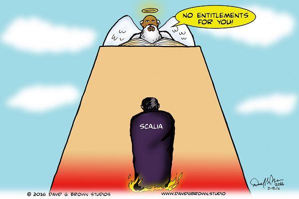 Political cartoon for Los Angeles Sentinel