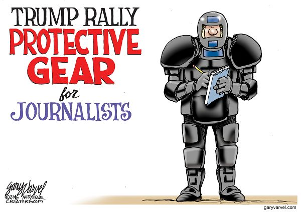 Some of Donald Trump rallies have turned violent and even include reports of journalists being roughed up.