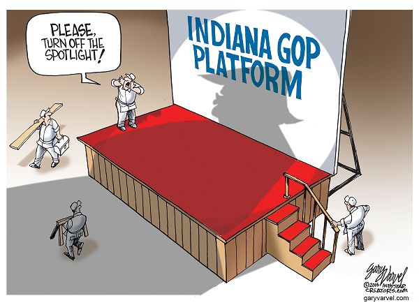 Indiana Republicans are overshadowed these days.