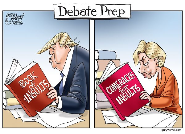 How are Donald Trump and Hillary Clinton preparing for the first Presidential debate?