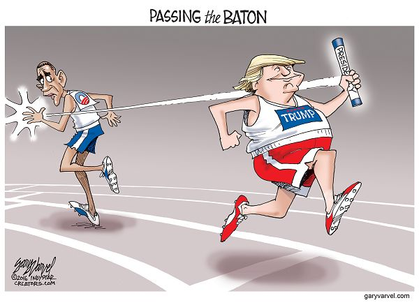 As Donald Trump takes the Presidential baton from President Obama, he may go in the opposite direction.